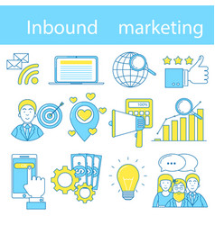 inbound marketing vector image