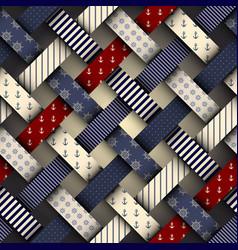 Interweaving nautical pattern vector