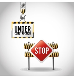 Isolated under construction design design vector