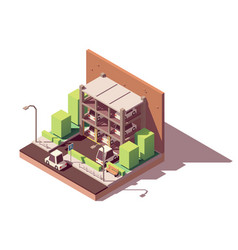 Isometric automated car parking system vector