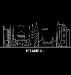 istanbul silhouette skyline turkey - istanbul vector image