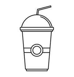 kiwi smoothie icon outline style vector image