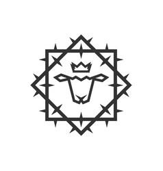 Lamb god in a crown vector