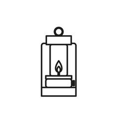 lantern adventure thin line icon symbol design vector image
