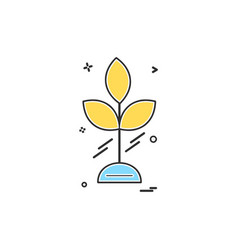 leafs icon design vector image