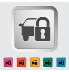 Locking car doors vector image