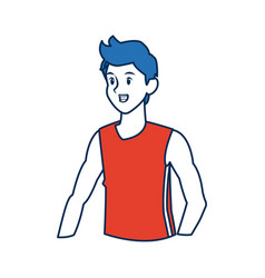 Man character sport fitness athletic vector