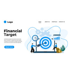 modern flat design financial target can vector image
