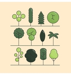 Modern flat trees set tree icons set tree vector image