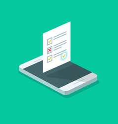 online form survey on cellphone flat vector image