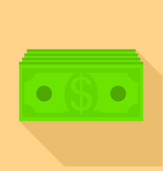 paper money icon flat style vector image