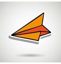Paper plane design vector