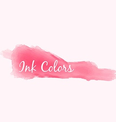 Pink ink color splash vector