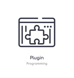 Plugin outline icon isolated line from vector