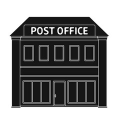 Post officemail and postman single icon in black vector