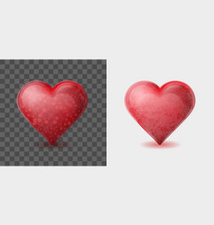 red heart with bubbles inside isolated on white vector image