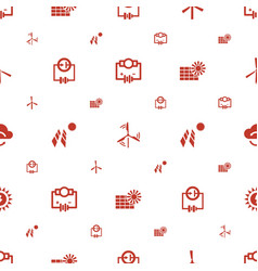 Renewable icons pattern seamless white background vector