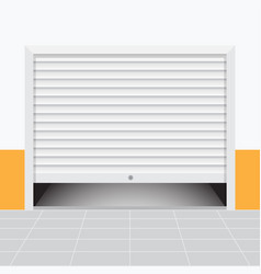 roller warehouse shutter doors vector image