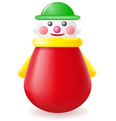 Roly poly doll toy vector
