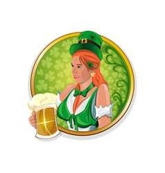 Round stickers for irish pub vector
