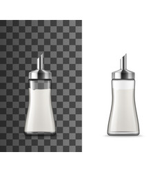 Salt shaker glass bottle with pouring spout vector
