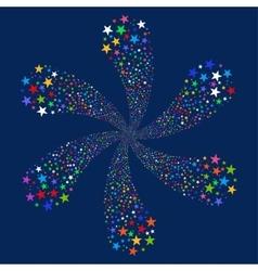 Salute Star Flower vector