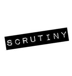 scrutiny stamp on white vector image