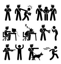 Security guard police officer thief icon symbol vector