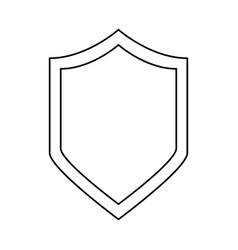 shield security emblem vector image