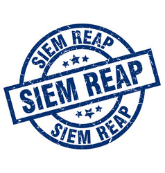 Siem reap blue round grunge stamp vector
