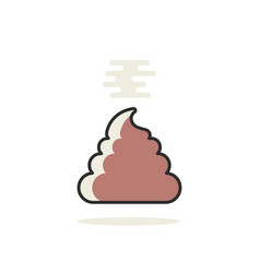 Simple linear pile of shit icon vector