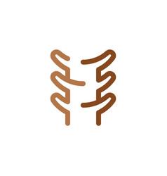 Spine line icon symbol design vector