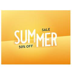 Summer sale bright sunny banner vector