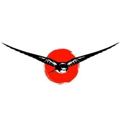 Swallows at sunset vector