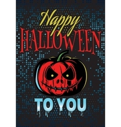 template Halloween party with a pumpkin for vector image