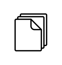 Thin line document blank icon vector