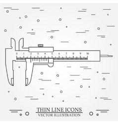 Thin line icon calipers For web design vector
