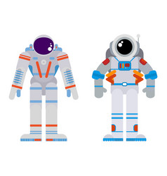 Two astronauts in a flat style bright vector