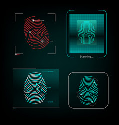 Visual response finger print vector