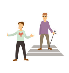volunteer work or volunteering people blind vector image