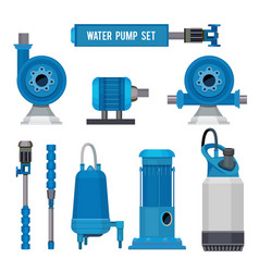Water pumps industrial machinery electronic pump vector