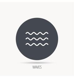 Waves icon Sea flowing sign vector