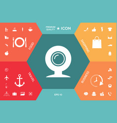 webcam icon symbol vector image