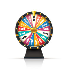 wheel fortune lucky game casino prize spinning vector image