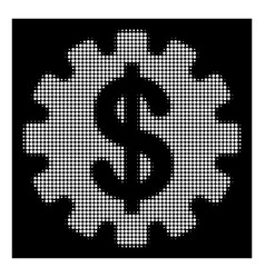 White halftone development cost icon vector