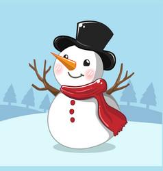 white snowman vector image