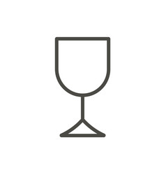 wine glass icon outline drink line alcoho vector image