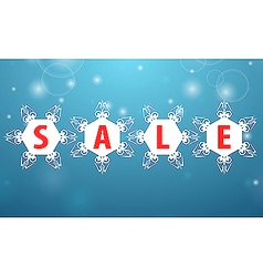 Winter sale four snowflake vector image