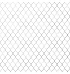 wire mesh steel metal on white background vector image