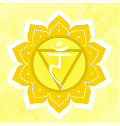 With manipura chakra symbol on vector